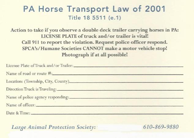 PA Animal Law « LAPS Large Animal Protection Society